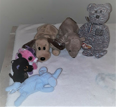 10 ITEMS-TY MIXED BEANIE BABIES--VERY CUTE AND SOME HAVE TAGS-ALL ARE RE... - $1.98