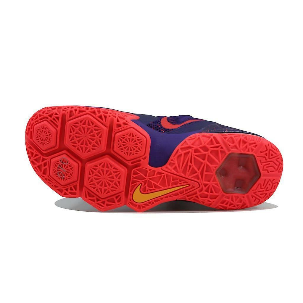 Nike Lebron XII Low Raptors Court Purple Bright Crimson 724557-565 Mens 9 image 6
