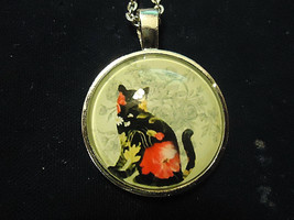 Decore Cat Cabochon Necklace (13536) >> Mystery Item Included - $2.97