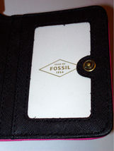 NWT Fossil Madison Woven Bifold Mini Wallet w/ Leather Trim +25%off next order* image 7