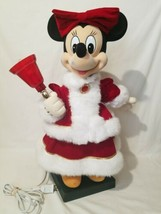 "Large 22"" Minnie Mouse Christmas Animated Musical Display Light Up Jingl... - $87.25"