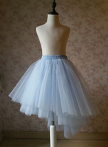 Girl Baby TUTU Skirts Light Blue Wedding Tiered Tutu Tulle Skirt Princess Outfit