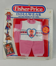"Vintage 1985 Fisher Price Dollwear Doll Clothing Fits 13""-15""  Pink Whit... - $20.56"