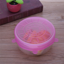 (pink)6PCS/Set Universal Silicone Suction Lid-bowl Pan Cooking Pot Lid-si - $28.00
