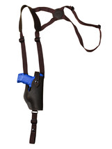 NEW Barsony Vertical Brown Leather Shoulder Holster HK KAHR FNX Comp 9mm... - $59.99
