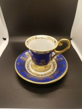 Cobalt Blue & Gold Bavaria Germany Dematais / Chocolate Cup Saucer  - $23.56