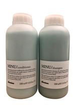 Davines Minu Shampoo & Conditioner Set Color Treated Hair 33.4 OZ Each - $149.99