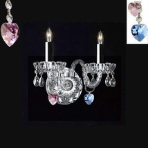 Made with Swarovski Crystal Wall Sconce! Murano Venetian Style Crystal W... - $97.99