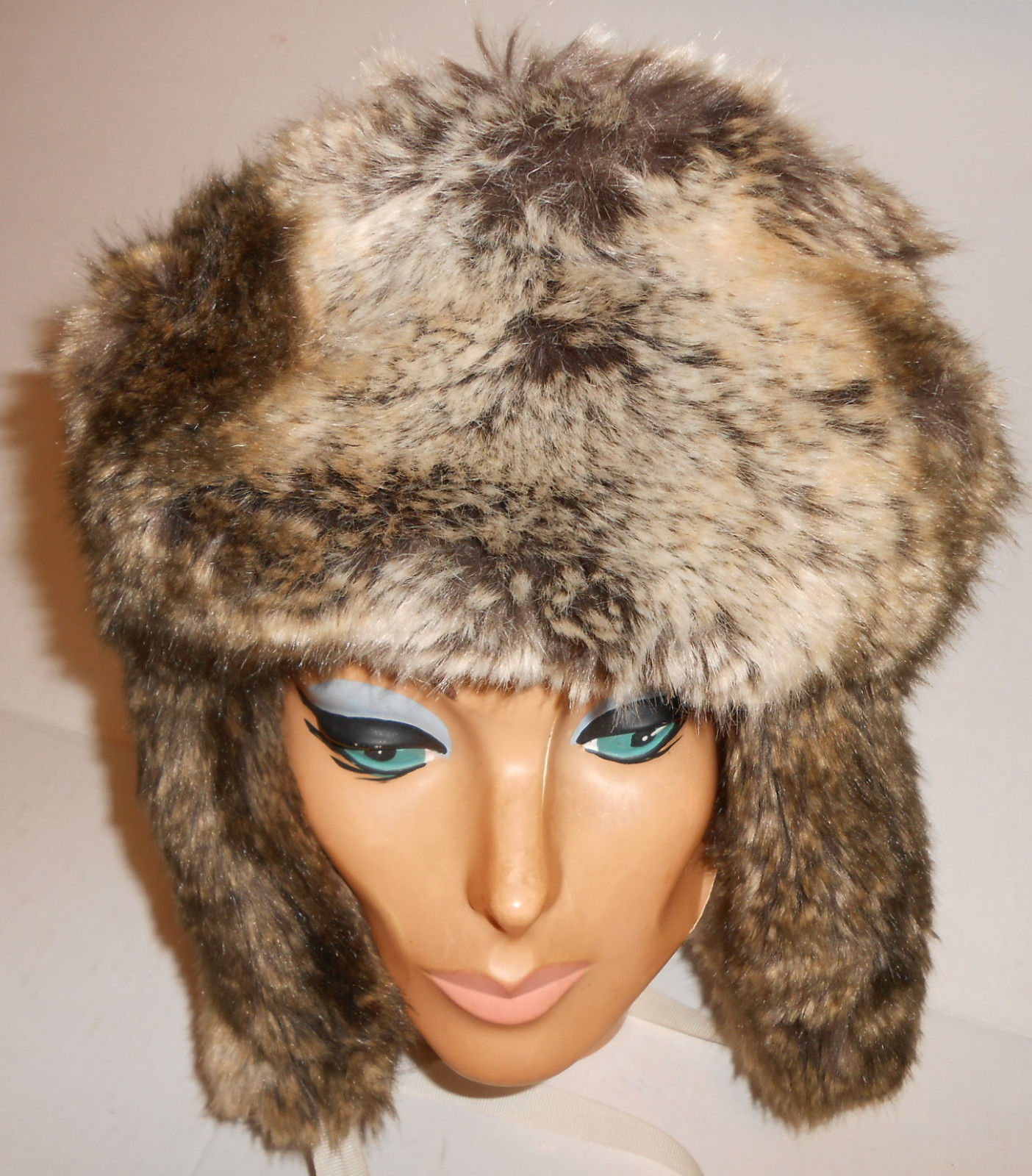 9cb354a187385f Fox Chinchilla Coyote IMPOSTER Faux Fur Trapper Russian Hat Animal Friendly  USA