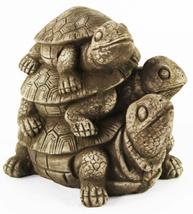 Turtles Stack Concrete Statue  - $54.00