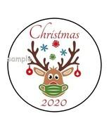 "30 CHRISTMAS 2020 ENVELOPE SEALS LABELS STICKERS 1.5"" ROUND QUARANTINE MASK - $4.99"