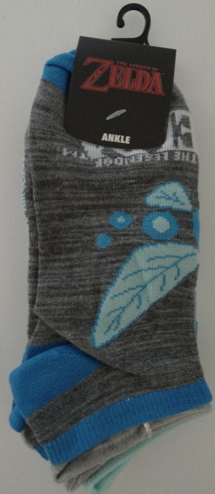 The Legend Of Zelda Video Game 3 Pack Ankle Socks Nwt