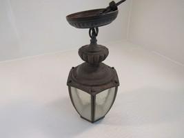 Hampton Bay Hanging Light Fixture Hexagon Lantern Bronze Finish Traditional - $27.46