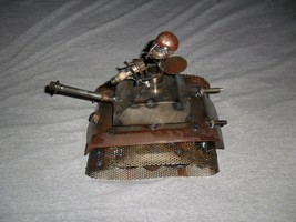 Metal and Stone Sculpture - Military Ant in a Tank - Very Unique Item! - $49.99