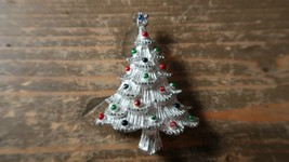 Silver Christmas Tree Brooch by Gerrys 5.1cm - $13.86
