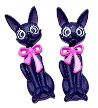 Creative Individuality Earrings Exaggerated Cartoon Cat Earrings, Pink