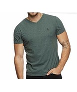 New Polo Ralph Lauren Men's Large Green Heather V-Neck T-Shirt NWT - $21.51