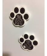 2 Pet Theme White Paws Kitchen Magnet Dog Lover Host Gift Free Shipping - $6.93
