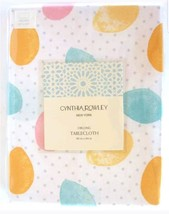 Cynthia Rowley Easter Tablecloth 60 x 84 Spring Colored Egg Oblong Table... - $35.15