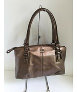 Coach Madison Bronze Leather Bag Small Satchel Purse F45918 B2C - $69.29