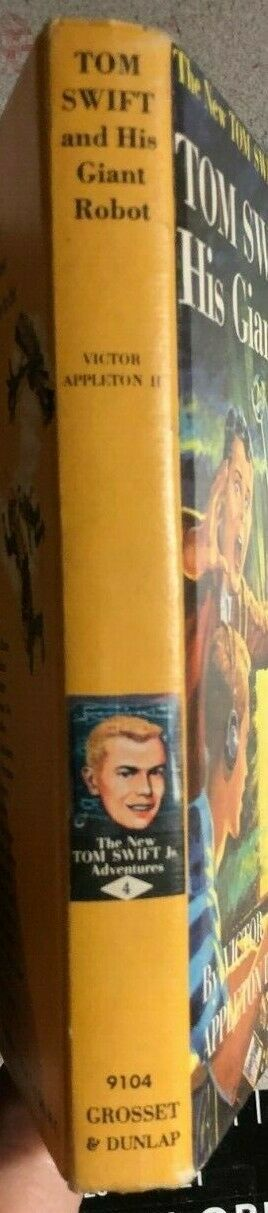 TOM SWIFT AND HIS GIANT ROBOT by Victor Appleton II (c) 1954 G&D HC Y