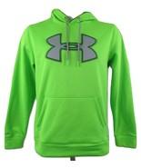 UNDER ARMOUR Women's Big Logo Storm Hoodie Neon Green Black/Gray Logo Si... - $25.69