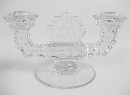 Vintage Fostoria American Clear (Stem 2056) Double Flat Foot Candlestick... - $10.00