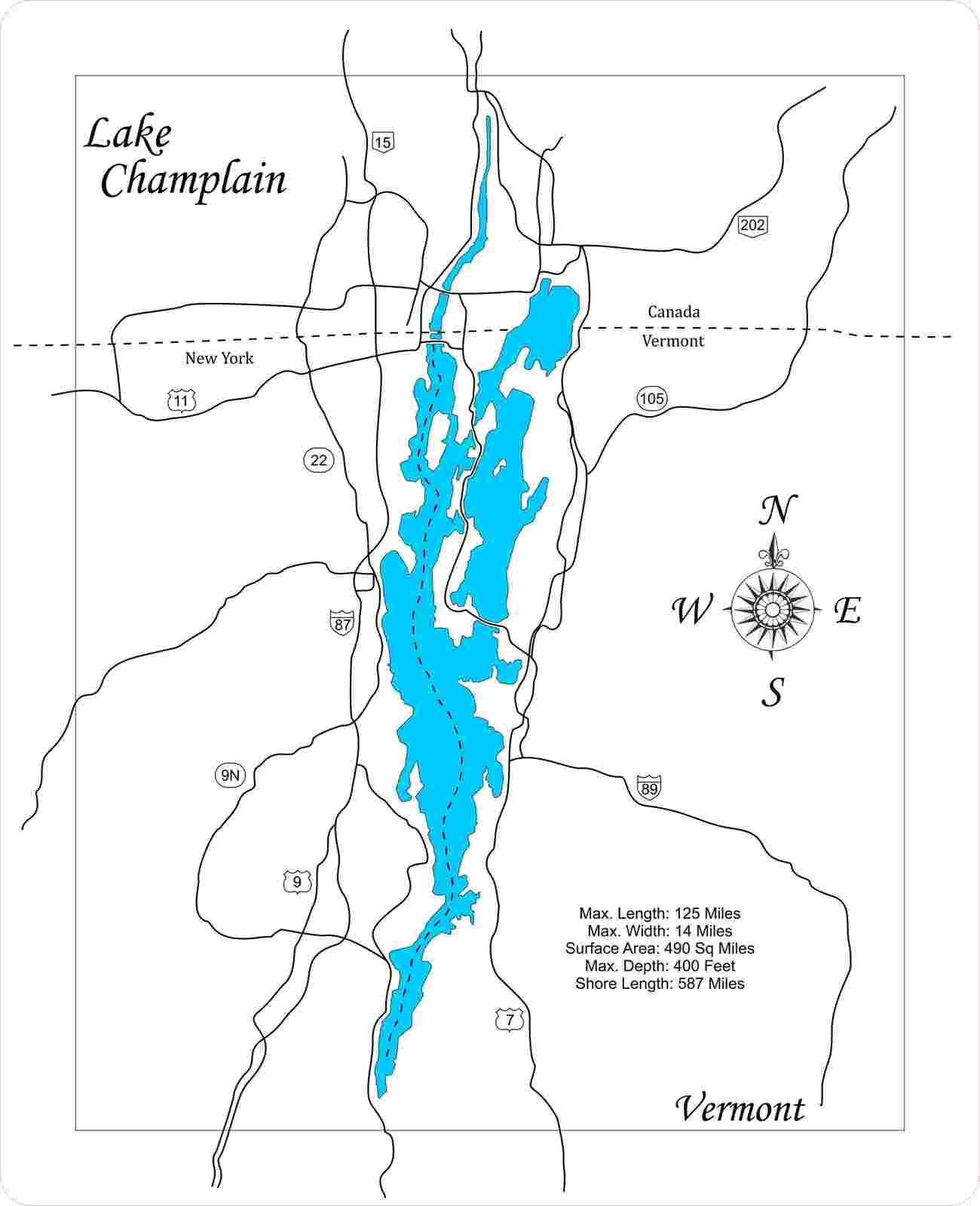 Champlain  vt small standout