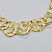 Choker Necklace Silver 925 Foil Gold with Circles by Maria Ielpo Made in Italy - image 4