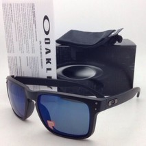 Polarized Oakley Sunglasses HOLBROOK OO9102-52 Matte Black w/ ICE Iridiu... - $179.95