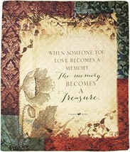 The Memory Becomes A Treasure Sympathy Gift Quilt Blanket To Send For Fu... - $81.68
