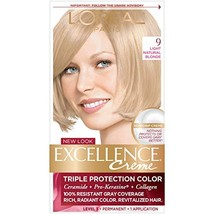 L'Oreal Excellence Creme Triple Protection Color Creme 9 Light Natural B... - $19.59