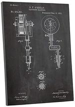 "Pingo World 0301Q40U224 ""Tattooing Machine Patent"" Gallery Wrapped Canva... - $58.36"