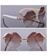 Fashion Popular Stylish Rimelss Custome Oversize Octagonal Lens Sunglass... - $680.00