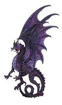 Draconis Moon Purple Dragon Wall Plaque Wall Decor Collectible 34 Inch H - $128.69