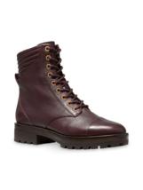 MICHAEL Michael Kors Bastian Leather Combat Boots Size 6.5 MSRP: $225.00 - $168.29
