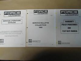 1988 Gewalt Außenborder Service Bulletin Sammlung Garantie Literatur Set... - $24.69