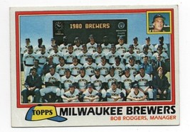 1981 Topps #668 Milwaukee Brewers Team Card GD - $0.99