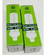 GE Fluorescent Bulbs 97634 Biax T/E ECO 42W 4 Pin CFL Lamp (Lot of 2) New - $3.87