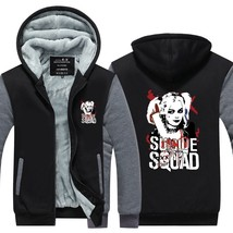 Suicide Squad Harley Quinn Joker Cosplay hoodies men Coat Hoodie Winter Fleece T - $51.00