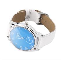Women's Watch Leather Quartz Fashion WristWatch White AD3