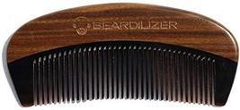 Beardilizer Beard Comb - 100% Natural Black Ox Buffalo Horn & Sandalwood Handle image 2