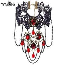 YiYaoFa Vintage Lace Choker Necklace for Women Accessories False Collar Statemen - $9.34