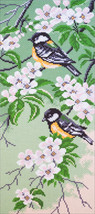 Collection D'Art Stamped Cross Stitch Kit 47x24cm-Titmouse Birds - $15.49
