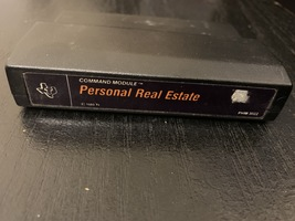 TI 99/4A Personal Real Estate tested utility software cartridge black label - $3.99