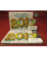 Lot of 8 Starbucks, THE CLASS OF 2017 Hologram Gift Cards New Unused wit... - $32.60