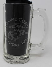 "USMC Marine Corps 1997 Birthday Ball 1st Division Glass Etched Mug 5.5"" Tall - $21.97"