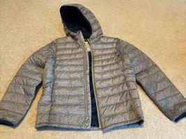 Gap Kids Boys Light Heather Gray/Blue Lightweight Puffer Jacket Size XL EUC - $32.71