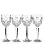 Waterford Crystal Seahorse Nouveau Goblets 9 oz Set of 4 # 40027974 - $210.38