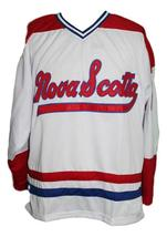 Any Name Number Nova Scotia Voyageurs Retro Hockey Jersey New White Any Size image 4